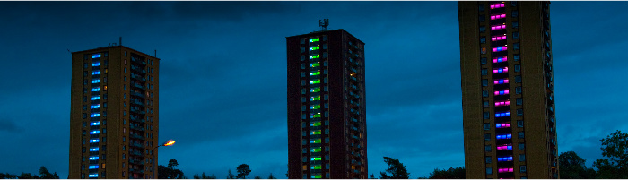 Castlemilk Lighting Project by Northern Light